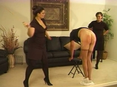Caned by Two Strict Upper classes